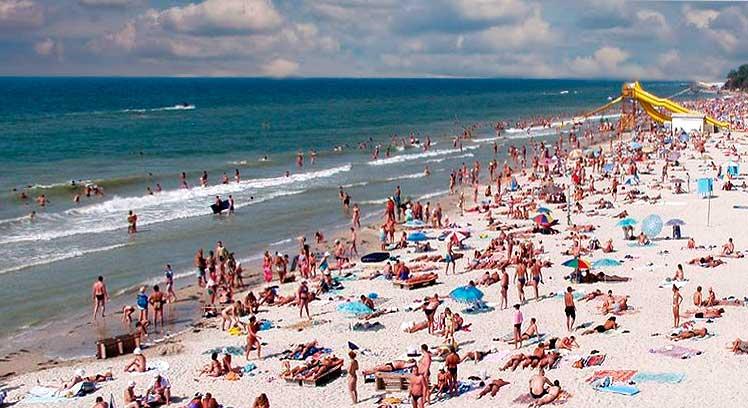 Пляж в лазурному 95